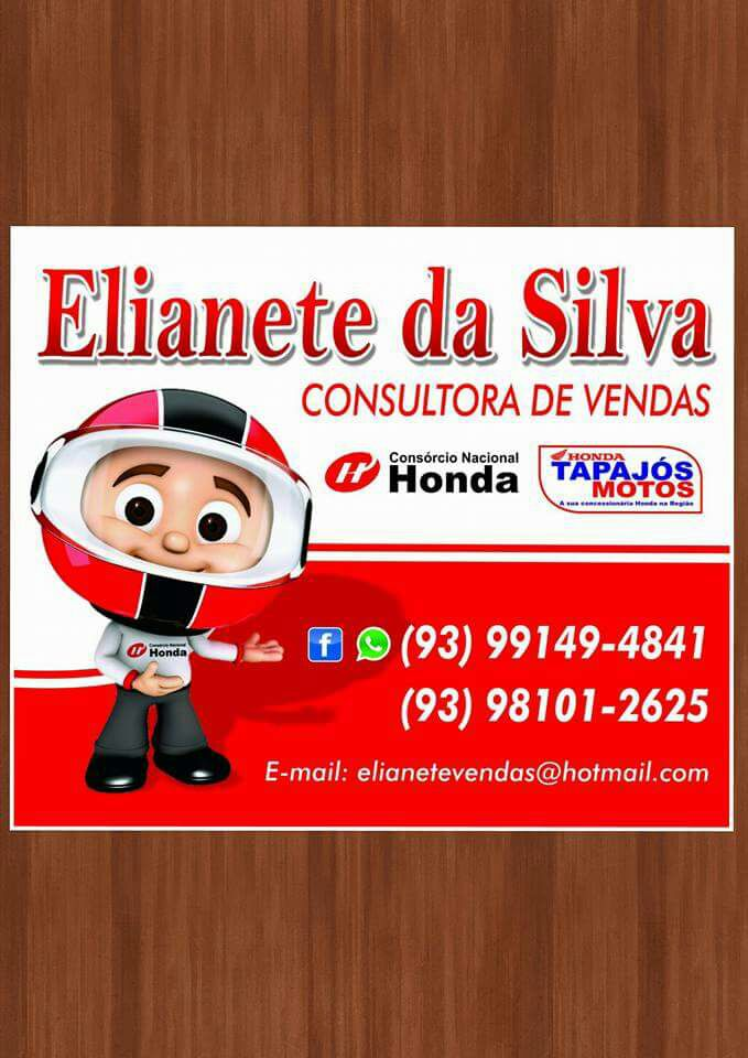 Consultora de venda Honda e com Elianete da silva