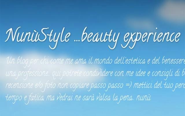il trova blog presenta nunùstyle...beauty experience