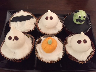 Halloween toffee apple cupcakes by Caroline Makes