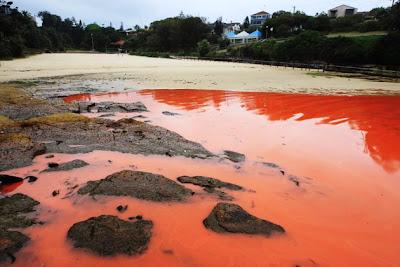 aguas se vuelven sangre en australia