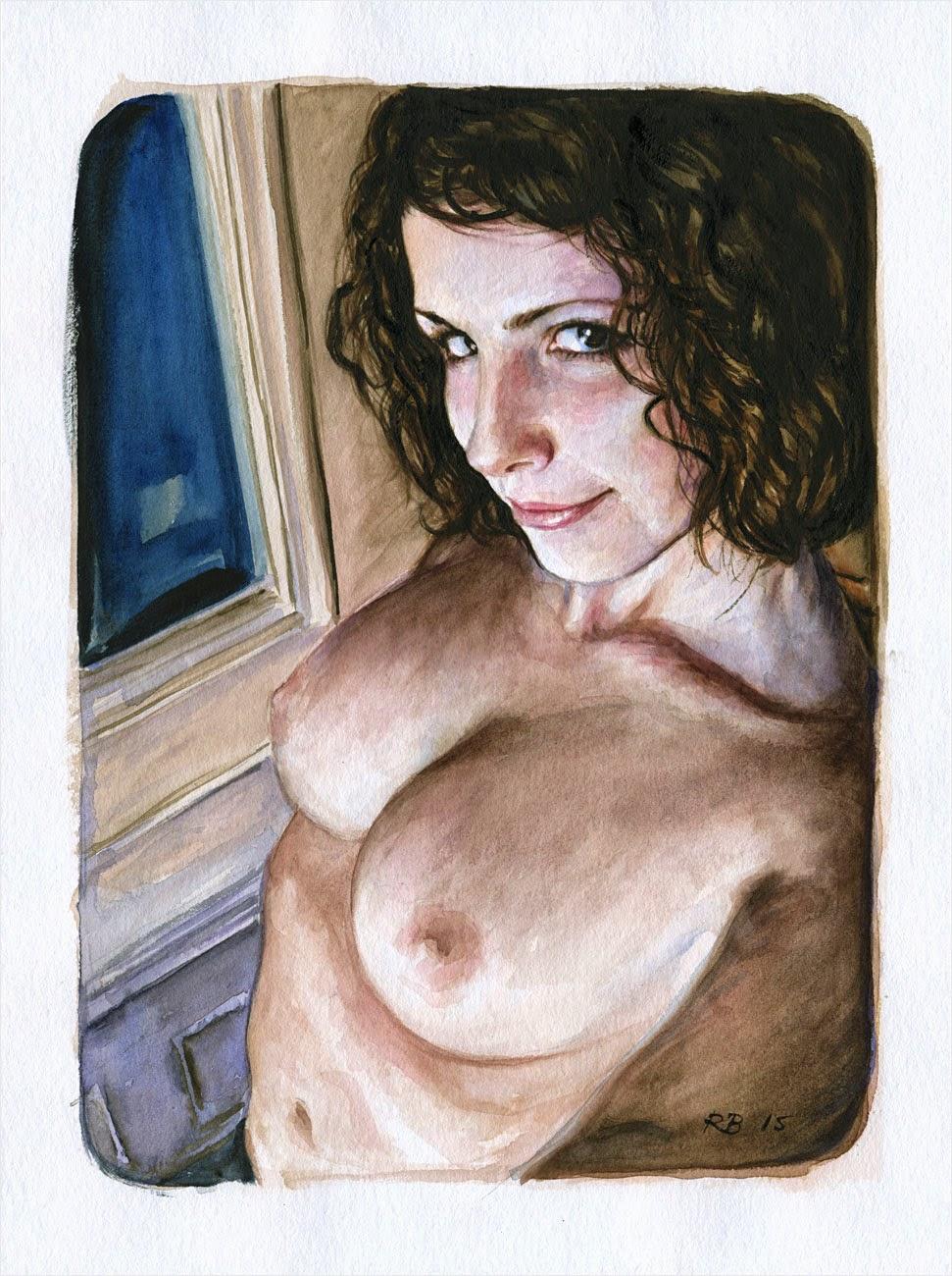 René Bui - Etude de nu à l'aquarelle 150129 - 2015