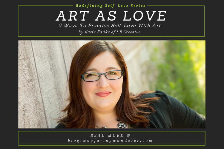 5 Ways to Practice Self-Love with Art | by Katie Radke of KR Creative | Logo