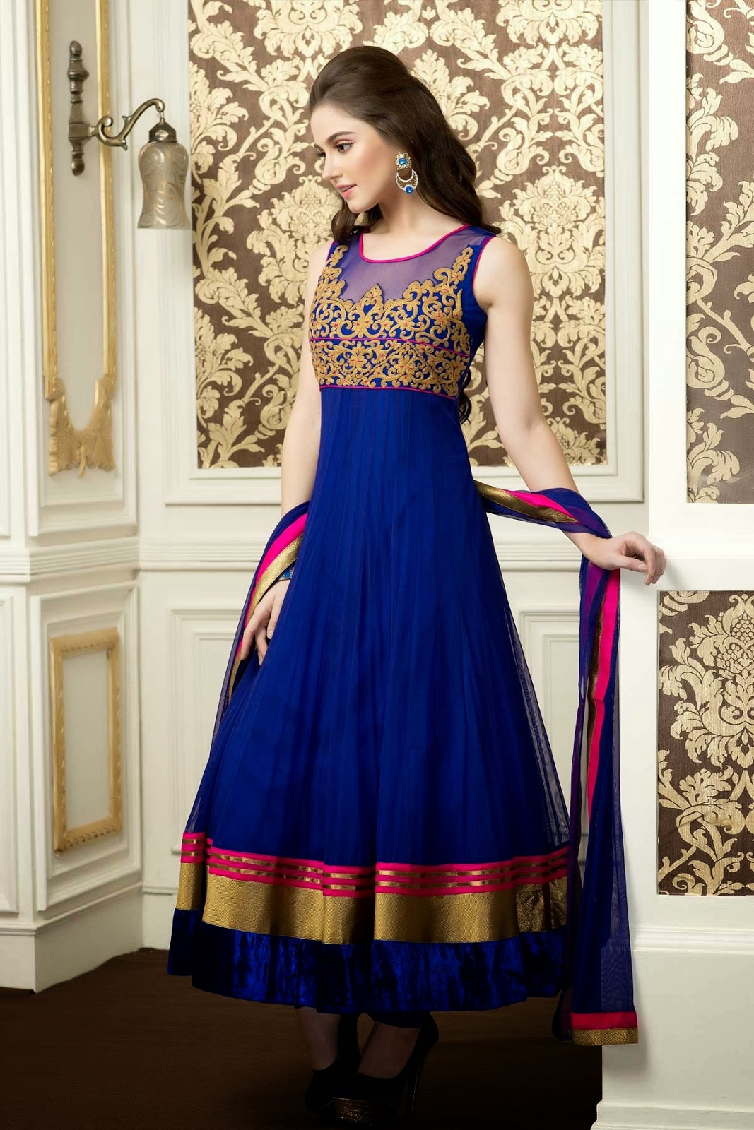 Best designer anarkali salwar suits top selling attires for Online suit builder
