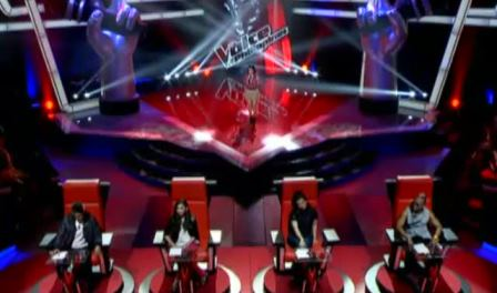 The much talked -about The Voice of the Philippines stage (Blind Auditions)