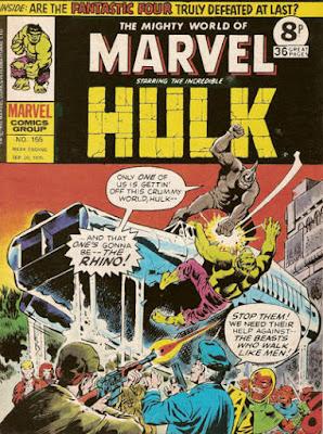 Mighty World of Marvel #155, Rhino vs the Hulk