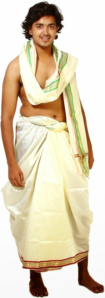 how to wear bengali dhoti