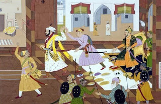 shivaji-in-aurangzebs-court-during-agra-visit