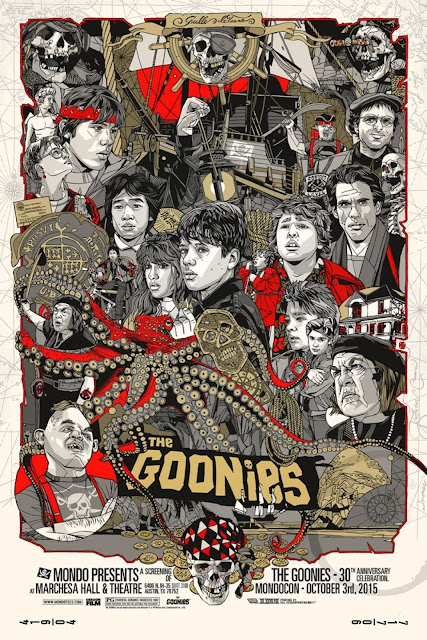 MondoCon 2015 Exclusive The Goonies Variant Screen Print by Tyler Stout x Mondo