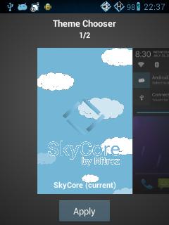 Theme Chooser, Interface