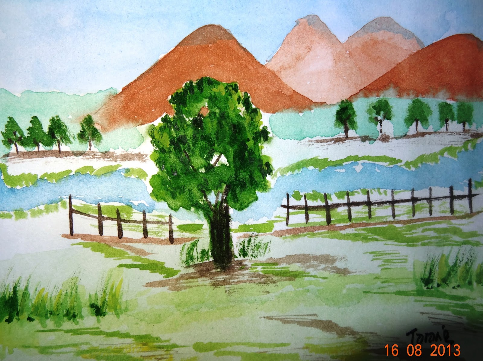 Tarang writes watercolour painting nature for How to draw nature for beginners