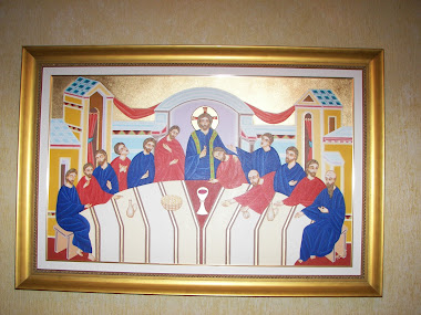 Santa Ceia, Acrílica sobre tela e ouro