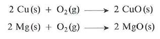 Reaccion del oxigeno con metales
