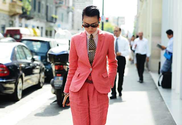 suit trend street style