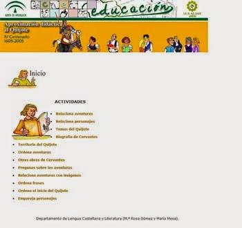 http://averroes.ced.junta-andalucia.es/quijote/contenidos/actividades.htm