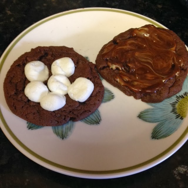 andes mint cookies, s'mores cookies, marshmallow recipe, cake box cookies