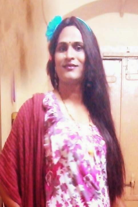 ... indian crossdressing (Lady getup, man in saree, Indian Transgender