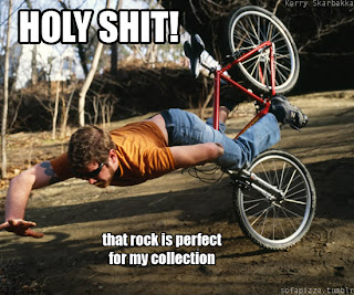 holy shit this rock is perfect for my collection, biker crash, biker crash funny pictures, holy shit this rock, this rock is perfect for my collection, biker fail, biker funny fail
