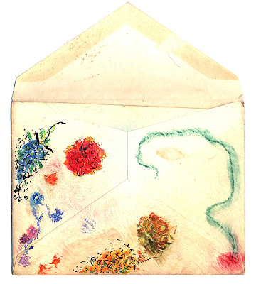 a beautiful doodle of Flowers on the back of an envelope