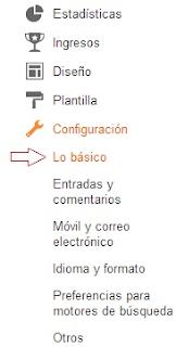 Configuración básica del blog