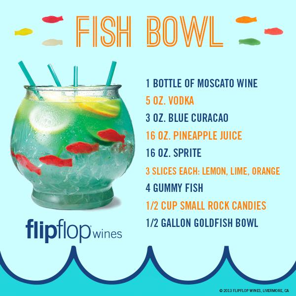 Recipes found on facebook fish bowl for Fun alcoholic drinks to make