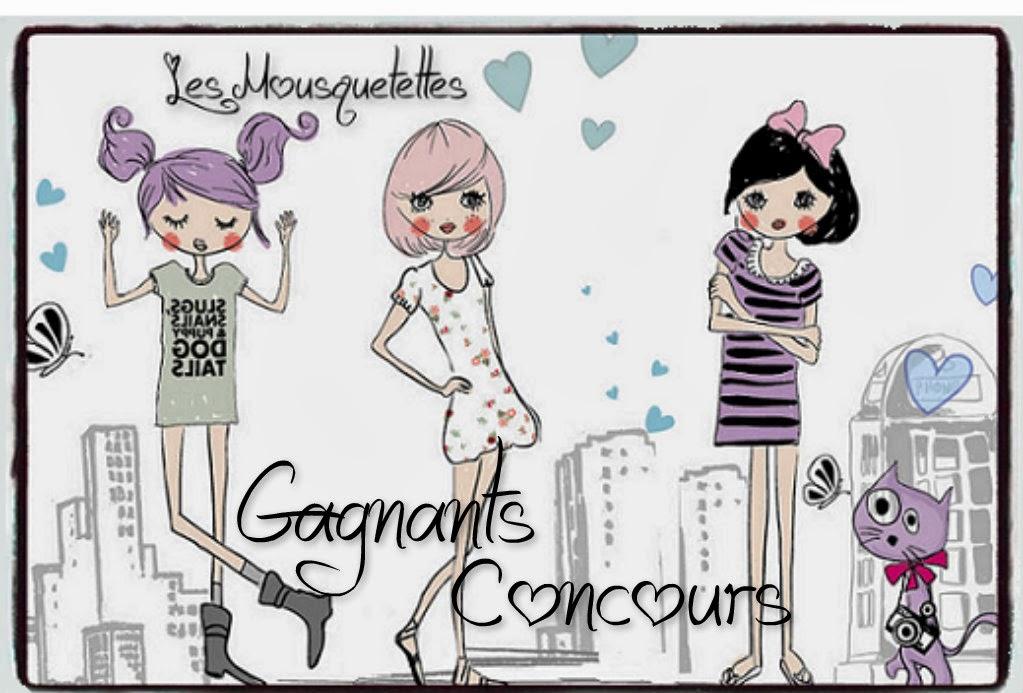 Gagnants concours - Les Mousquetettes