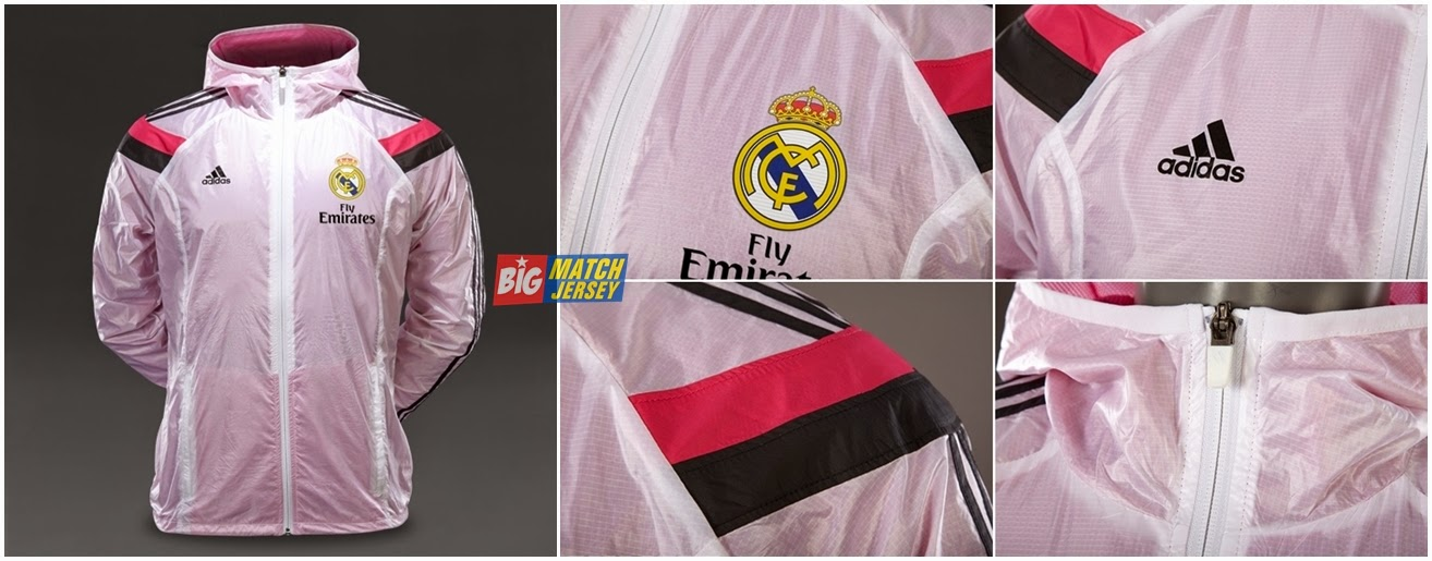 adidas Real Madrid 1415 Anthem Jacket White-Black-Pink (2)