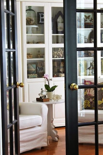My sweet savannah painting interior doors black for Black french doors exterior