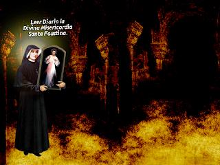foto de Cristo y santa Faustina
