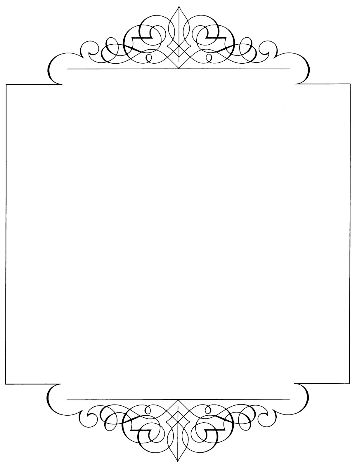 Elegant Page Borders Black And White Pictures to Pin on ...