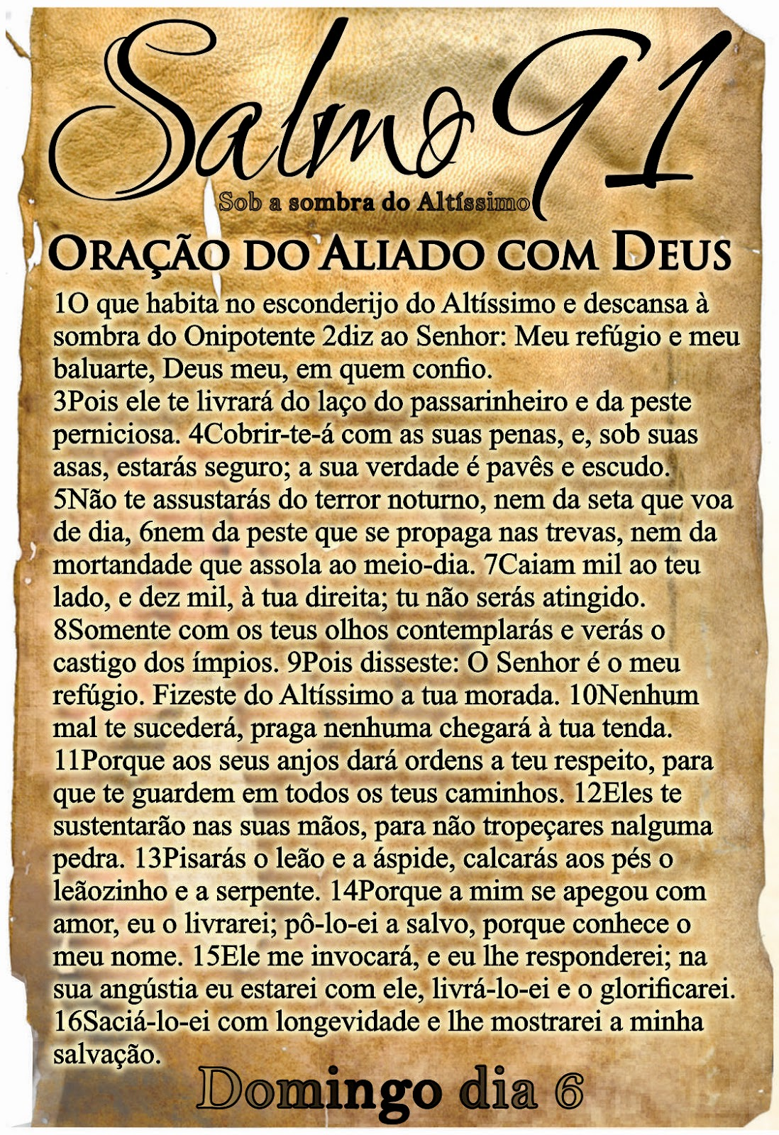 Famosos Homem de Fé: Oração do Aliado com Deus Salmo 91 UR56