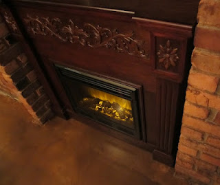 fire place Green Dot Stables