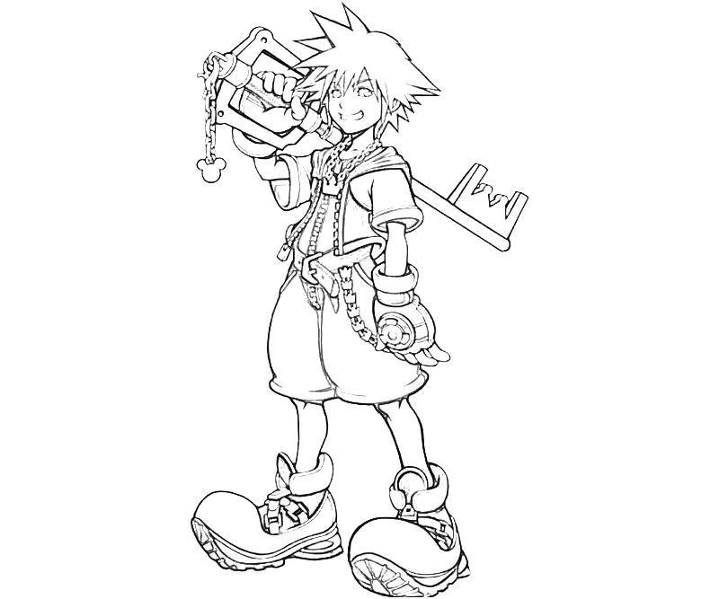 kingdom hearts sora coloring pages - Coloring Pages Hearts 2