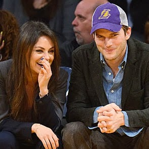 Ashton Kutcher & Mila Kunis hot couples