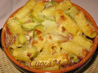 pasta al forno speck e zucchine