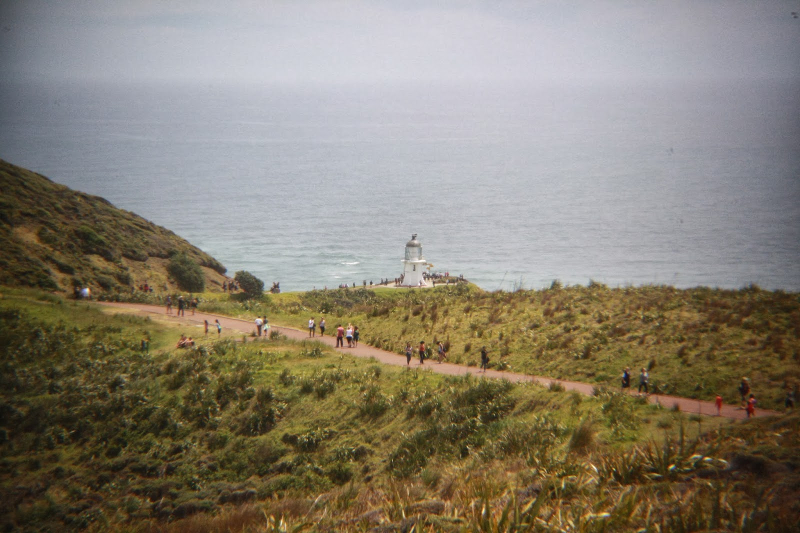 The Cape Reinga light house is in the distance.