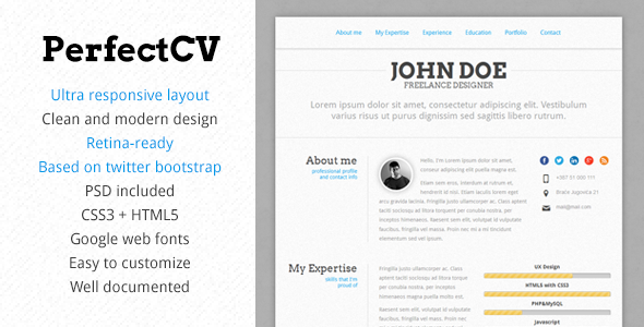best 15 bootstrap 3 resumes and cv templates my webtricks