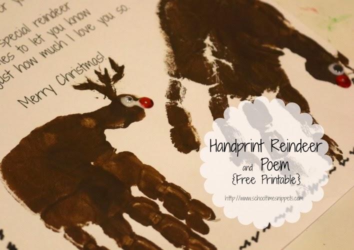 Reindeer Handprint Poem | New Calendar Template Site