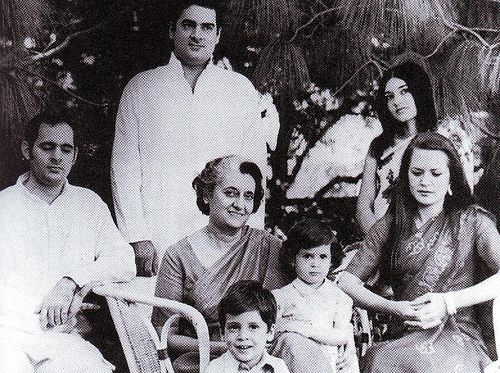 Indira Gandhi Family Photos a Rare Gandhi Family Photo