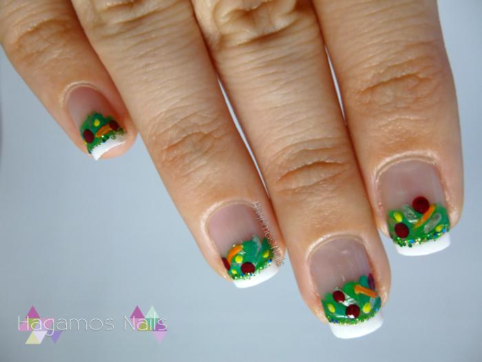 Nail Art Ensalada. Reto #DIASDEVERANO Hagamos Nails