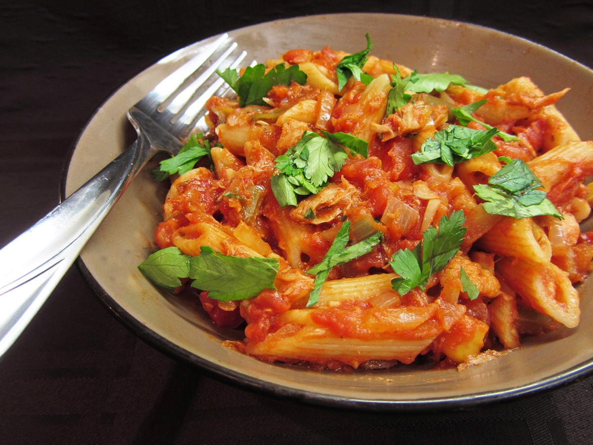 spicy tuna pasta