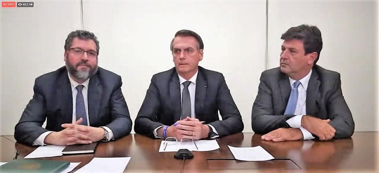 28 de março, 18h30: LIVE com o presidente Bolsonaro