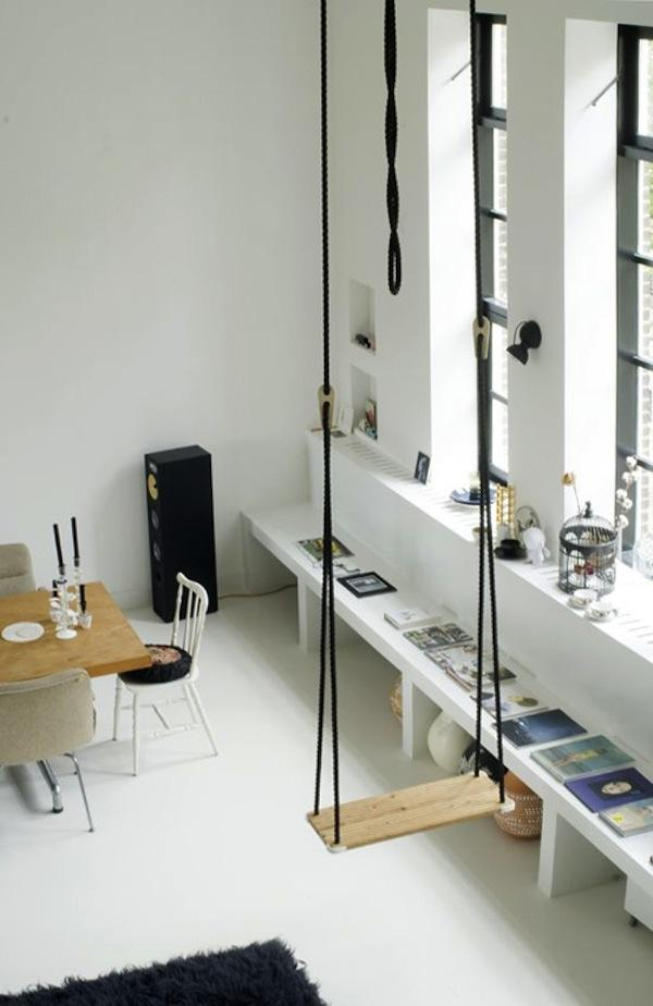 swing at  living room