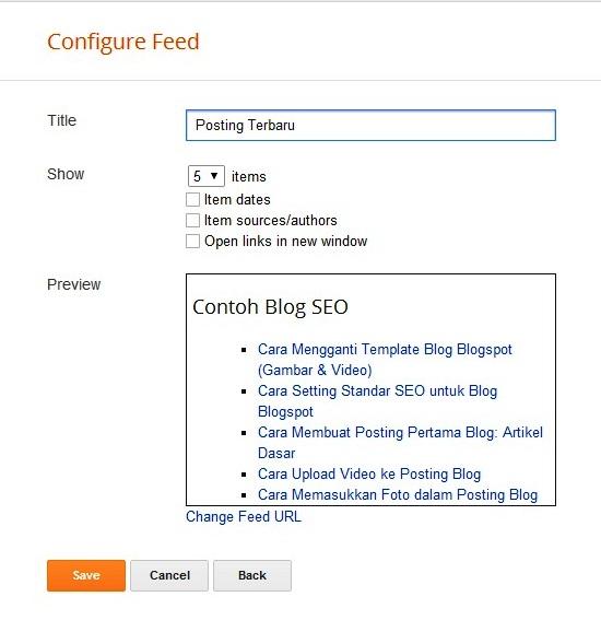 Cara Membuat Widget Posting Terbaru di Blogspot