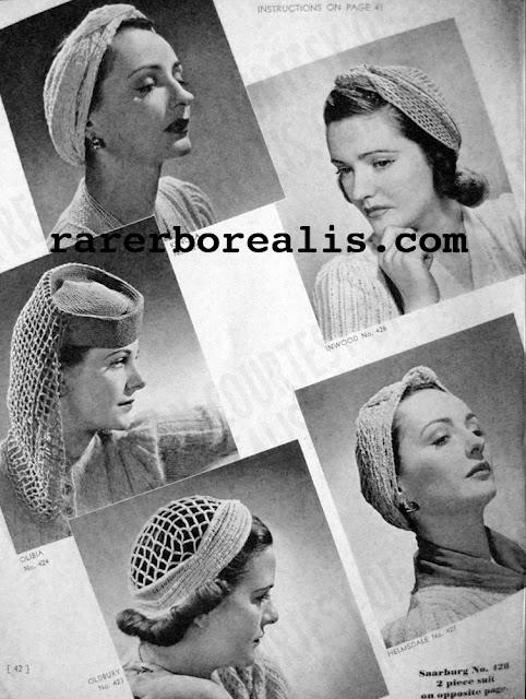 Free 1940's Knitting & Crochet - Hats & Turbans