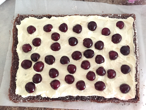 Gluten Free Black Forest Roulade with Cherries
