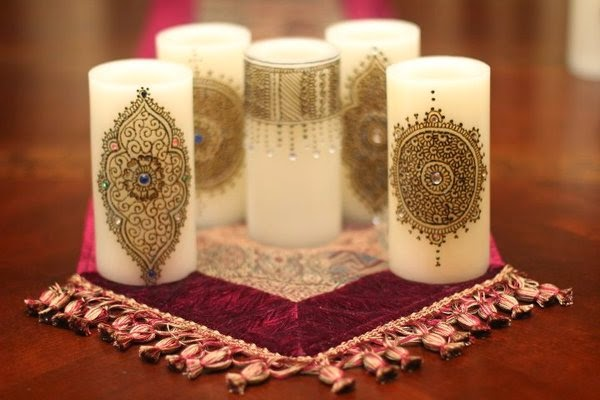 Mehndi For Candles : Mehndi fun different uses for part