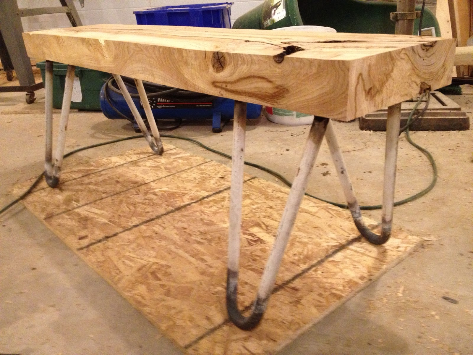 Uncategorized How To Attach Hairpin Legs black ash bench and homemade hairpin legs thisoldtable next step bending hair pin welding them to square plates attach the here they are pre paint