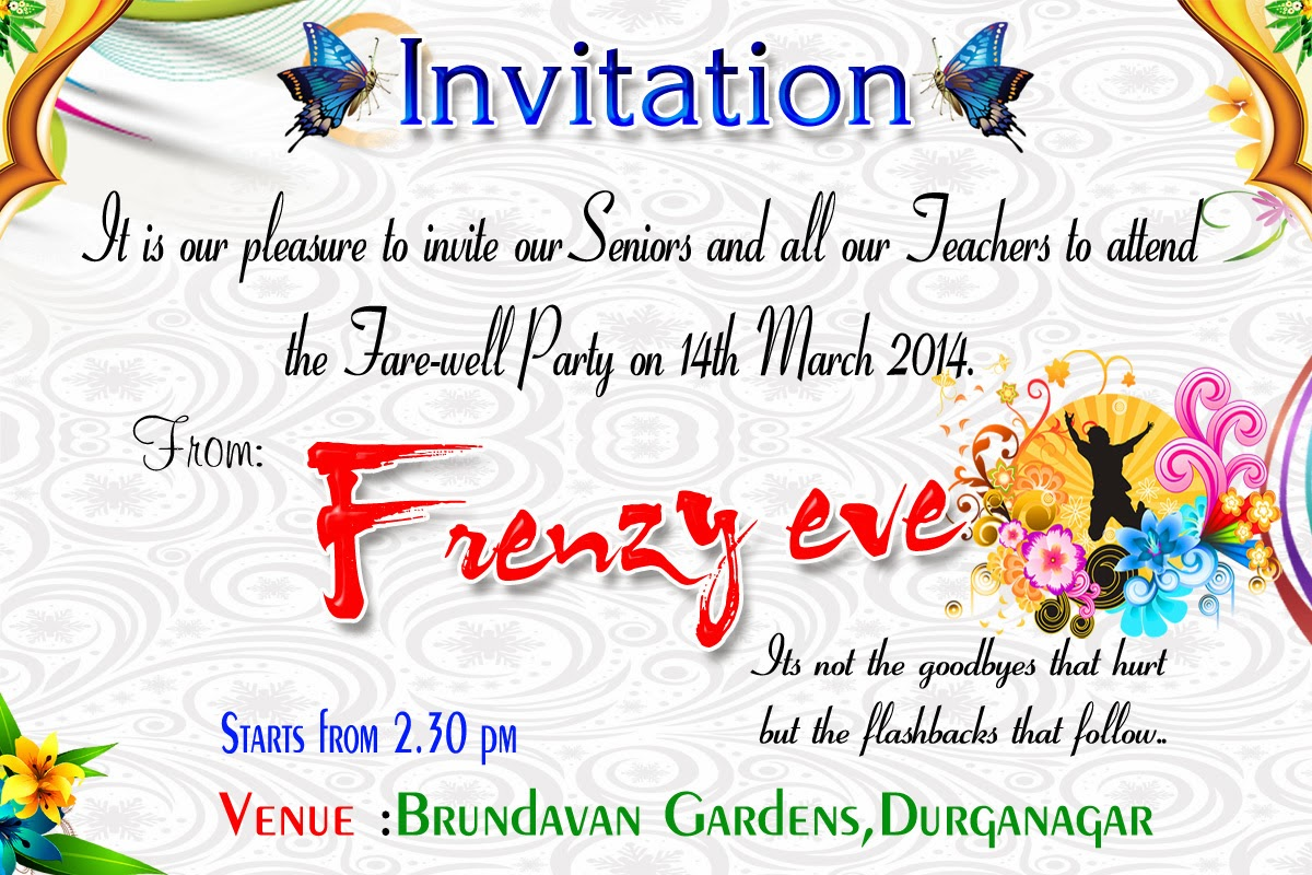 Invitation and Farewell party flex - newquotesadda