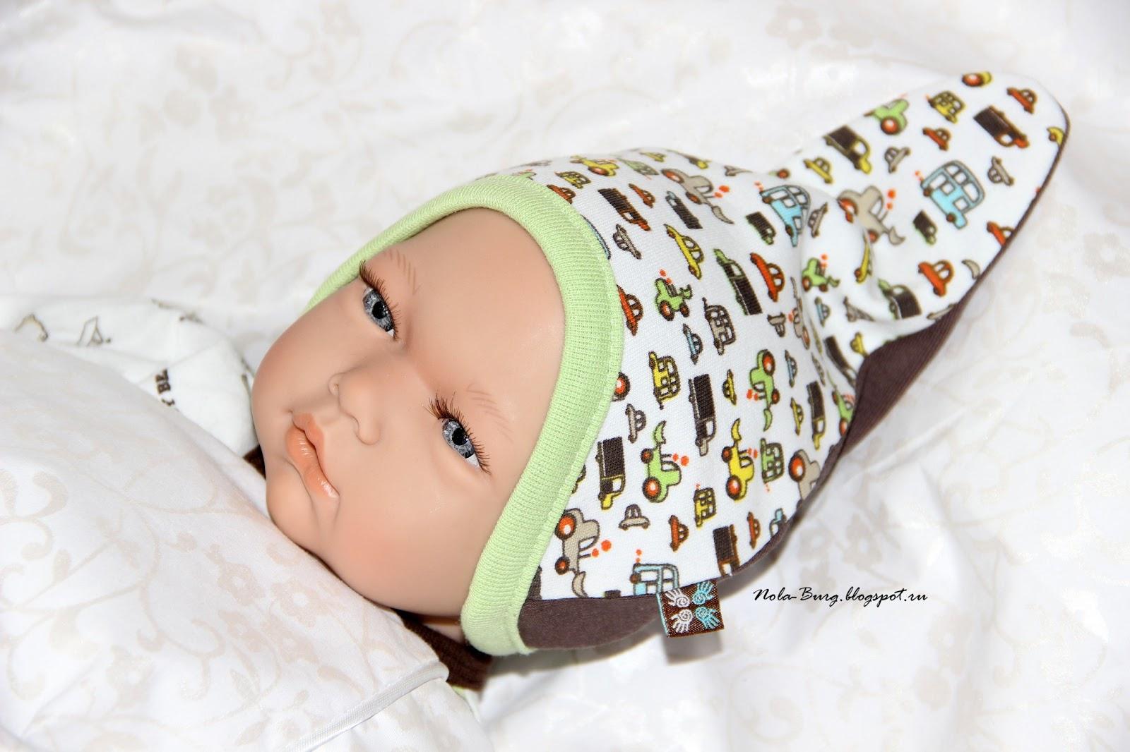 Шапочку для новорожденного сшить