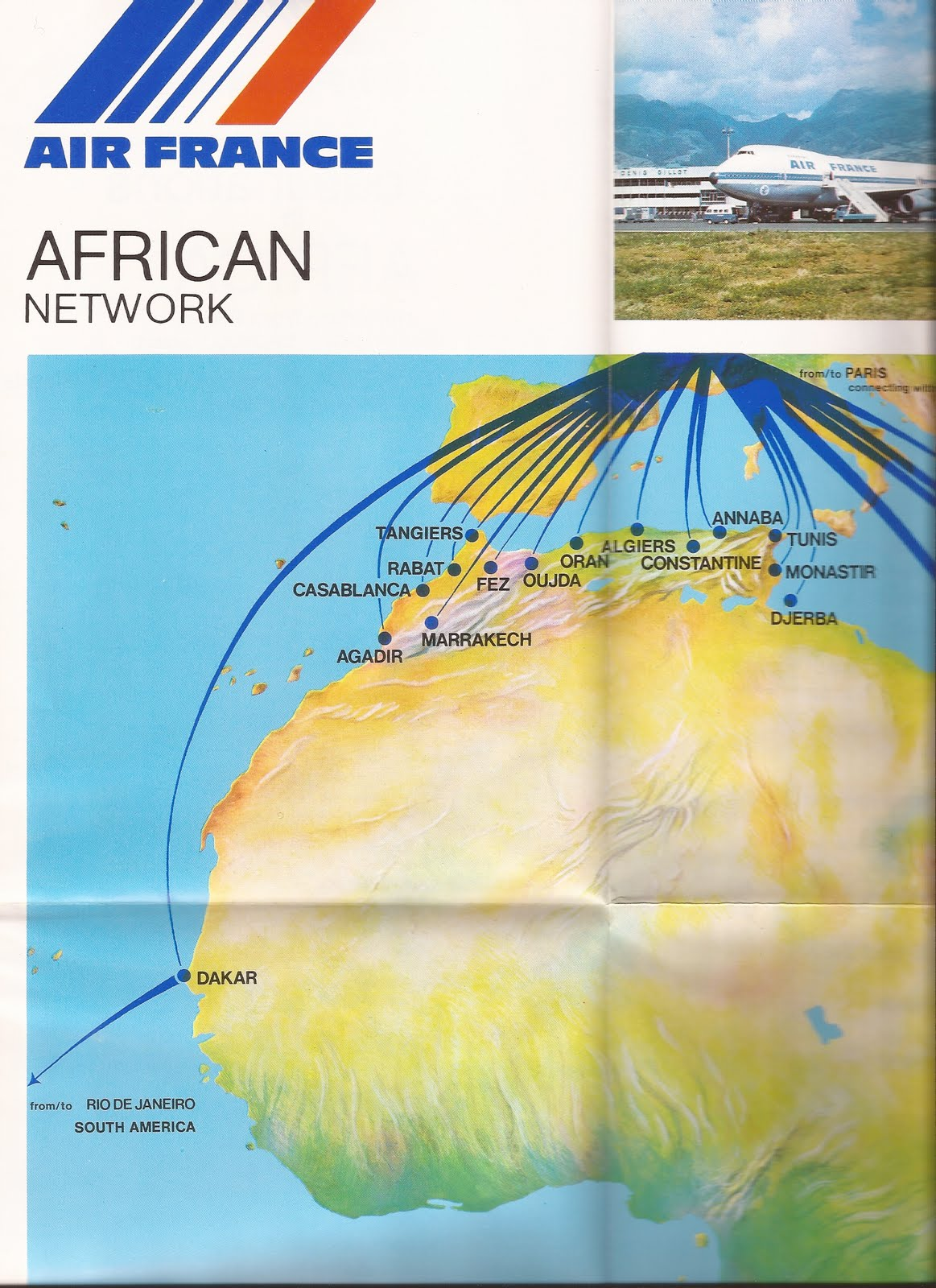 The Timetablist: Air France: The African Routes, 1977.